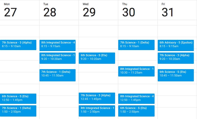 Teacher Schedules, Webcal Feeds, Google Calendar and Apps Script – G